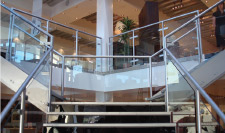 Toughened glass cut to size for stairs